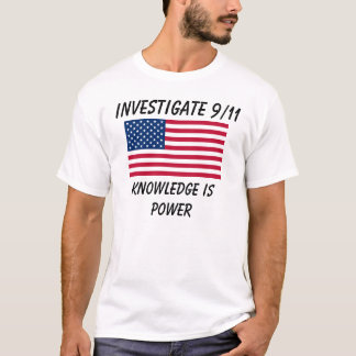Investigate 9/11 - USA Flag - Basic T-Shirt