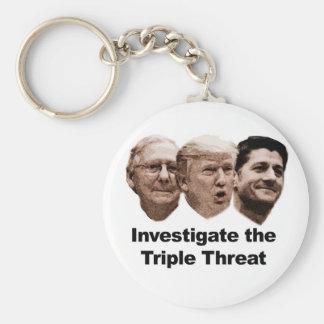 Investigate the Triple Threat Keychain