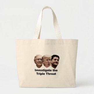 Investigate the Triple Threat Large Tote Bag