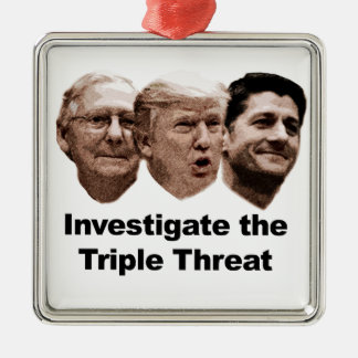 Investigate the Triple Threat Metal Ornament