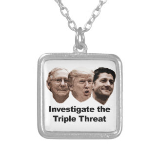 Investigate the Triple Threat Silver Plated Necklace