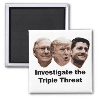 Investigate the Triple Threat Square Magnet