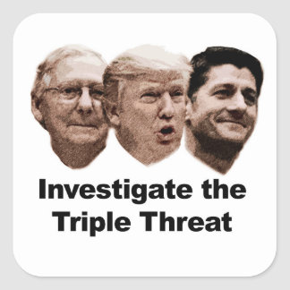 Investigate the Triple Threat Square Sticker