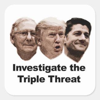 Investigate the Triple Threat Square Sticker