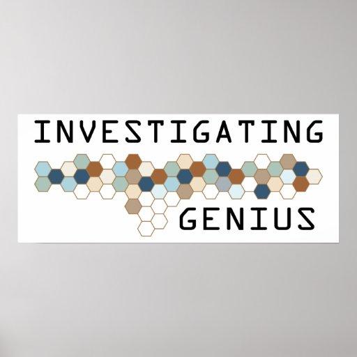 Investigating Genius Posters