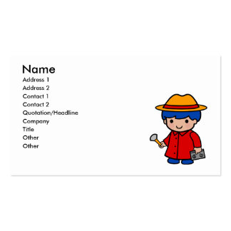Investigator Boy Business Card Template