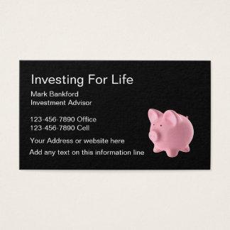 Investment Advisor Business Card