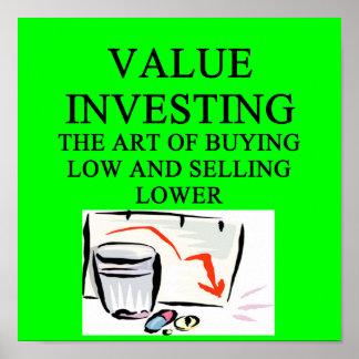 investments joke poster
