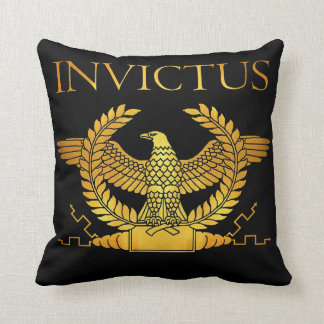 invictus golden logo pillow