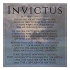 Invictus - Powerful inspirational poem poster