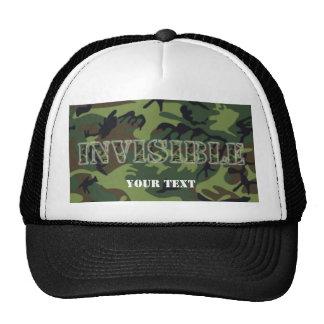 Invisible Army Green Camo trucker hat