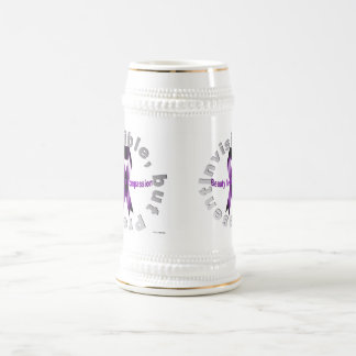 Invisible, but Present Beauty Lies in Compassion Beer Stein