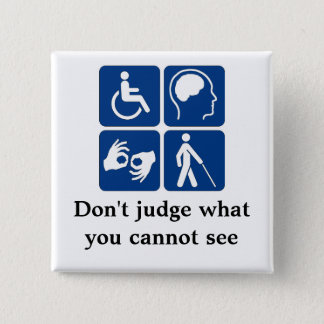 Invisible Disabilities 2 Inch Square Button