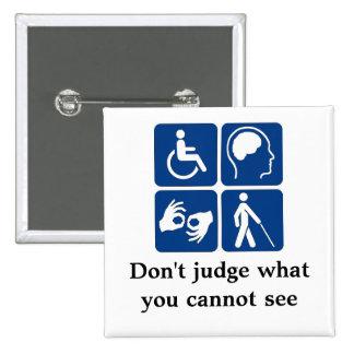 Invisible Disabilities 2 Inch Square Button