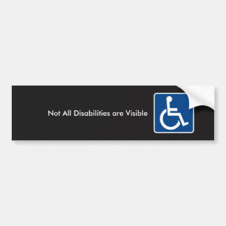 Invisible Disability Awareness Bumper Sticker