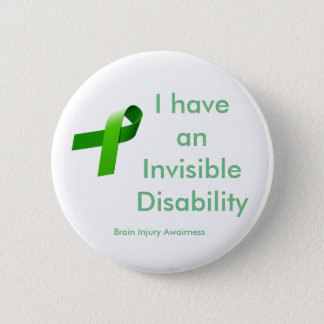 Invisible Disablility 2 Inch Round Button