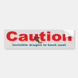 Invisible Dragon Bumper Sticker