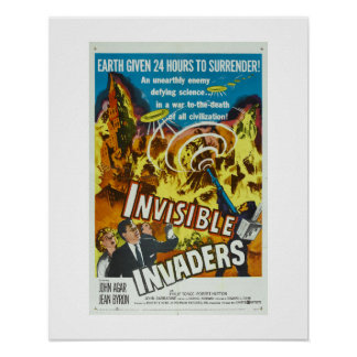 Invisible Invaders Poster