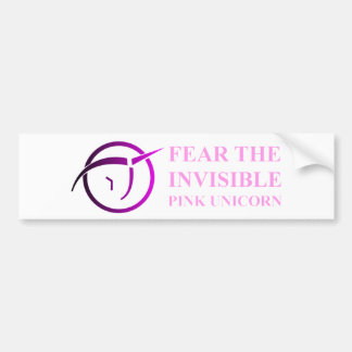 Invisible Pink Unicorn Bumpersticker Bumper Sticker