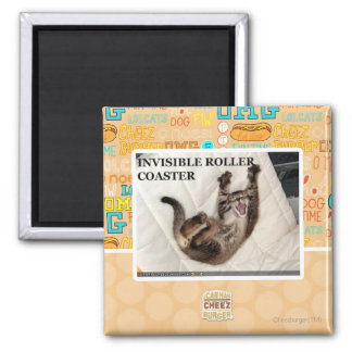 Invisible Roller Coaster Square Magnet