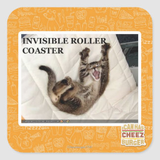 Invisible Roller Coaster Square Sticker