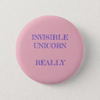 Invisible Unicorn 2 Inch Round Button