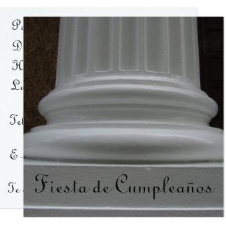 """Invitación - Fiesta de Cumpleaños 5.25"""" Square Invitation Card"""