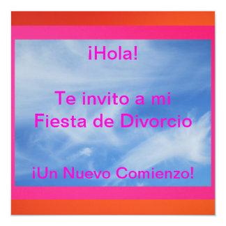 """Invitación - Fiesta de Divorcio 5.25"""" Square Invitation Card"""