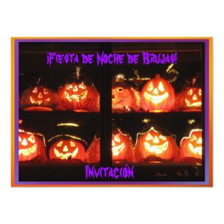 """Invitación - ¡Fiesta de Noche de Brujas! 6.5"""" X 8.75"""" Invitation Card"""