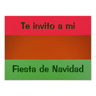Invitación - fiesta Navidad - couleurs de México Carton D'invitation 16,51 Cm X 22,22 Cm