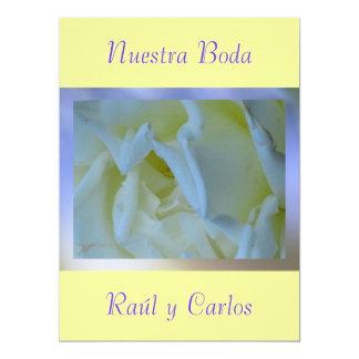 """Invitación - Nuestra Boda - Amarilla y Azul 6.5"""" X 8.75"""" Invitation Card"""
