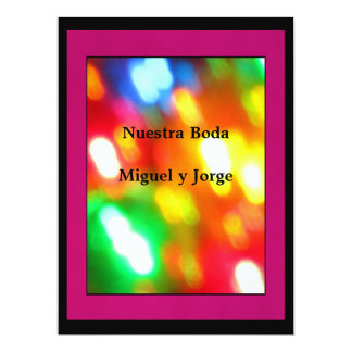 """Invitación - Nuestra Boda - Multicolor 6.5"""" X 8.75"""" Invitation Card"""