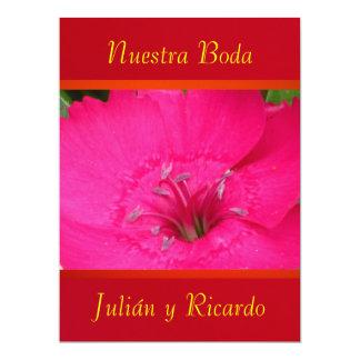 """Invitación - Nuestra Boda - Roja y Naranja 6.5"""" X 8.75"""" Invitation Card"""