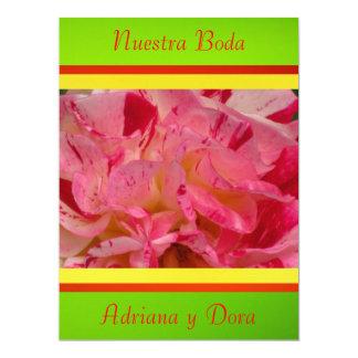 """Invitación - Nuestra Boda - Roja y verde 6.5"""" X 8.75"""" Invitation Card"""