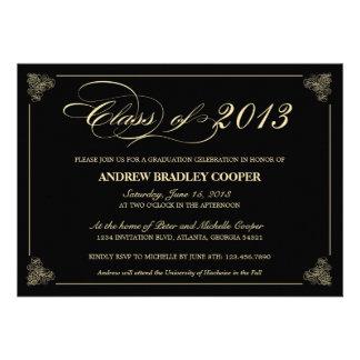 Invitation 2013 élégant chic d obtention du diplôm