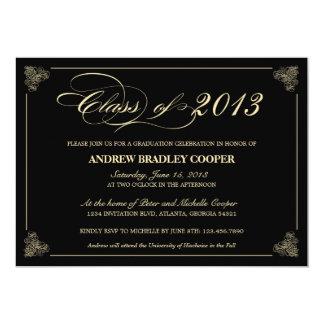 Invitation 2013 élégant chic d'obtention du carton d'invitation  12,7 cm x 17,78 cm