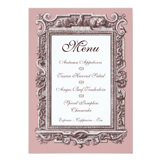 Invitation 25eme Menu De Diner D Anniversaire Du Baroque Zazzle Ca