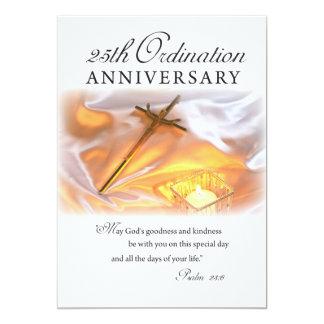 Invitation 25th Ordination Anniversary, Cross Can
