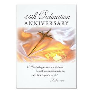 Ordination invitations announcements zazzle ca invitation 35th ordination anniversary cross can stopboris Images