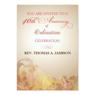 Invitation, 40th Anniversary of Ordination Blessin Card
