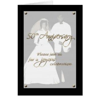 Invitation 50th anniversary couple