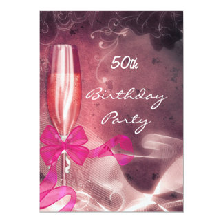 Invitation 50th Birthday Party Party Pink