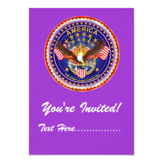 "Invitation 5"" x 7"" America not forgotten...."