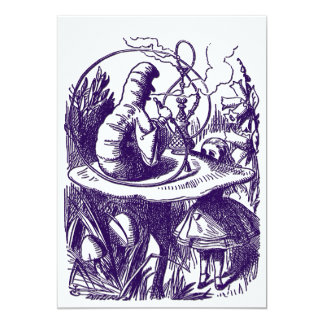 Invitation: Alice in Wonderland - Caterpillar Card