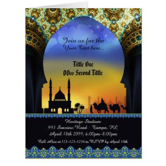 Invitation Arabian Nights,any occasion, 8.5x11 e