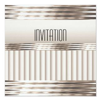 Invitation Art Deco Light Sepia