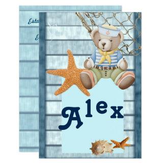 Invitation birthday marine style appoints Alex