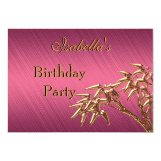 Invitation Birthday Party Pink Gold