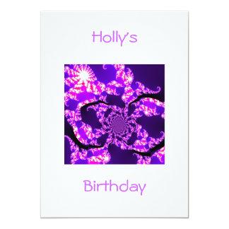 Invitation Birthday Purple Haze on White