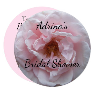 Invitation - Blush Pink Rose